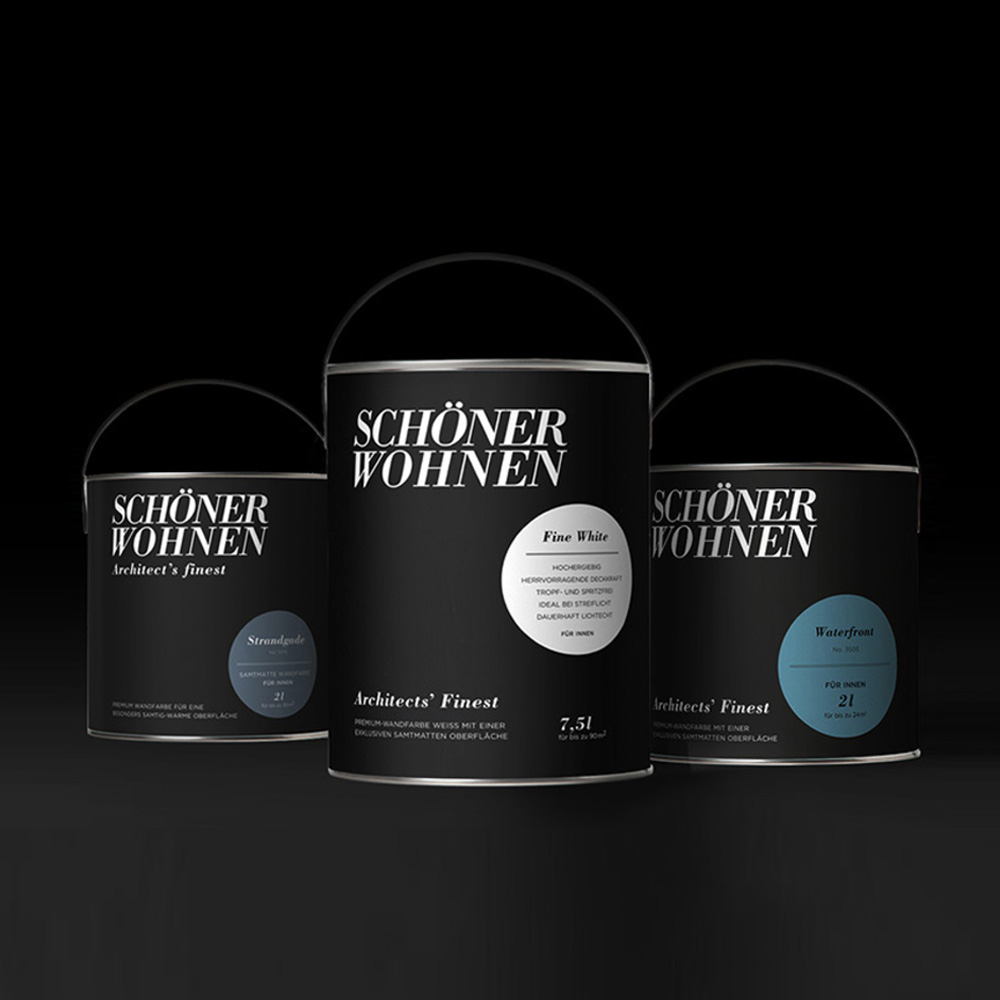 Packaging concept and relaunch for Schöner Wohnen Farbe